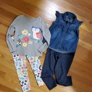 Size 4/5 Carters and Jordache outfits